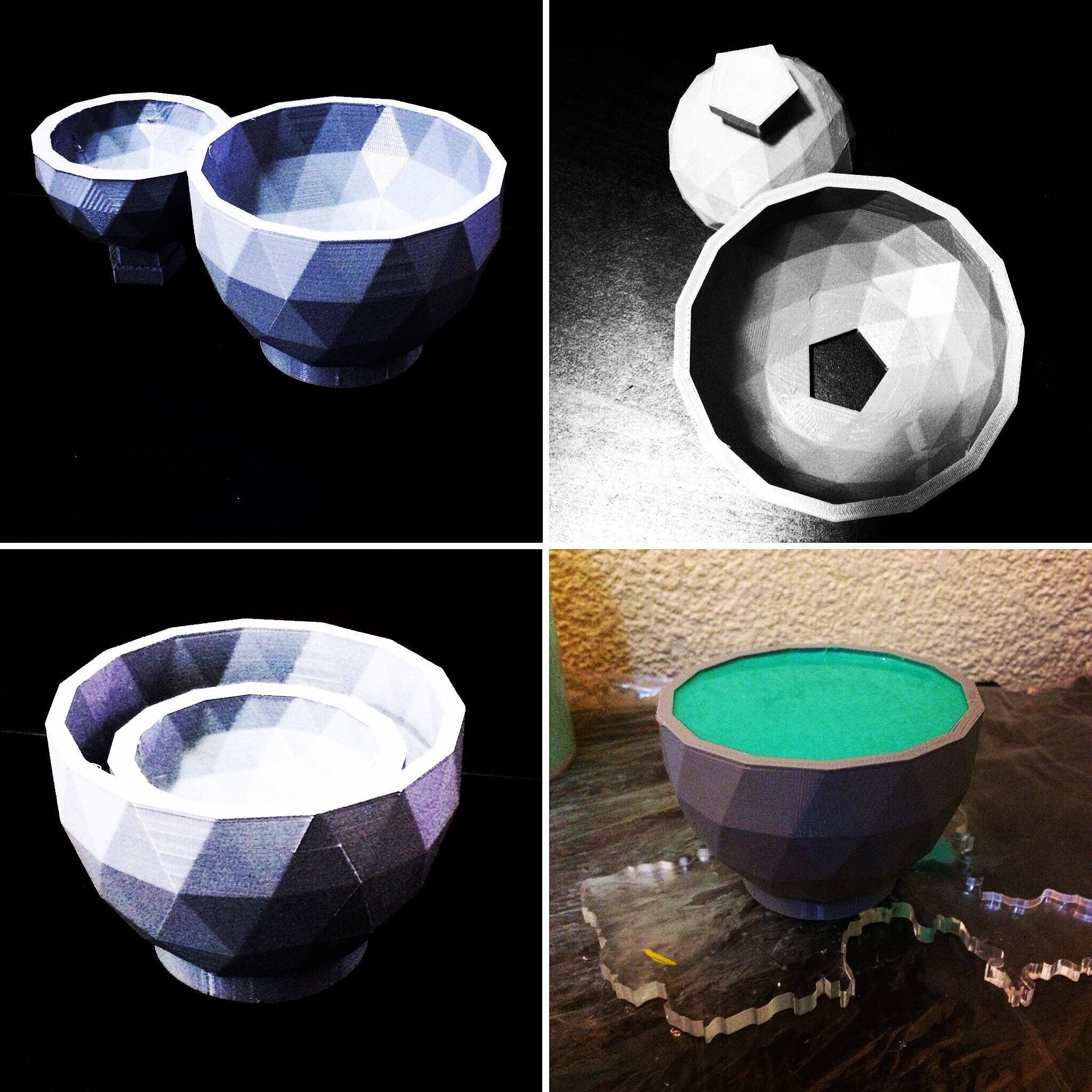 Molde impresso: Geodésico Dome